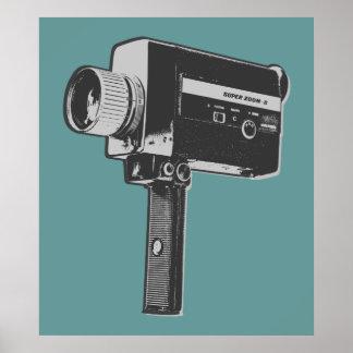 Retro Film-Kamera Plakatdruck