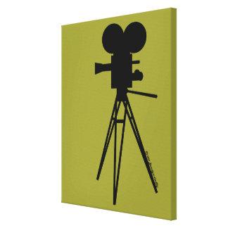 Retro Film-Kamera-Silhouette-kundenspezifische Kun Galerie Gefaltete Leinwand