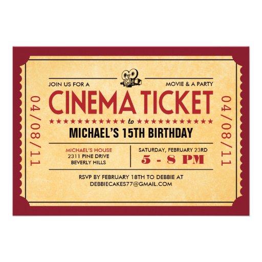 Retro Film-Karten-Einladungen