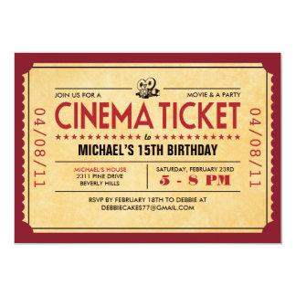 Retro Film-Karten-Einladungen 12,7 X 17,8 Cm Einladungskarte