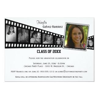 Retro Film-Streifen-Abschluss-Party-Foto laden ein 12,7 X 17,8 Cm Einladungskarte
