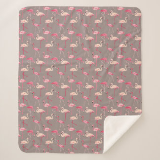 Retro Flamingos Sherpadecke