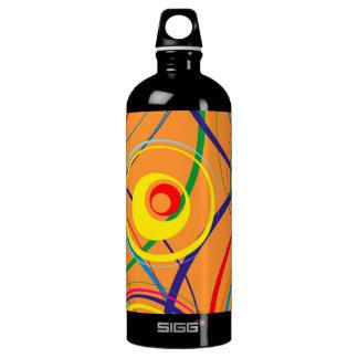 Retro flippiger Kreis-Entwurf Wasserflasche