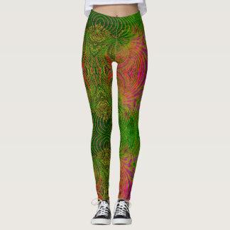 Retro flippiges psychedelisches Muster Legging Leggings