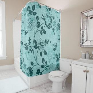 Retro_Floral (c) Turquoise_Everyday_Unisex Duschvorhang