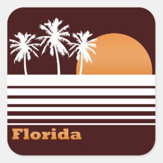 Retro Florida-Aufkleber Quadratischer Aufkleber