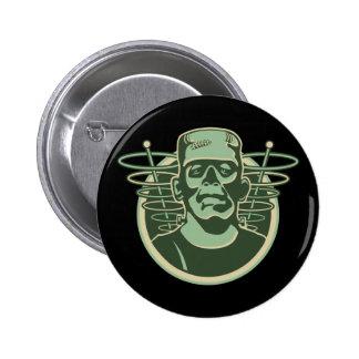 Retro Frankenstein Runder Button 5,7 Cm