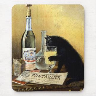 """Retro französisches Plakat """"Wermutbürger """" Mousepad"""