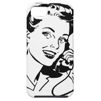 Retro Frau am Telefon