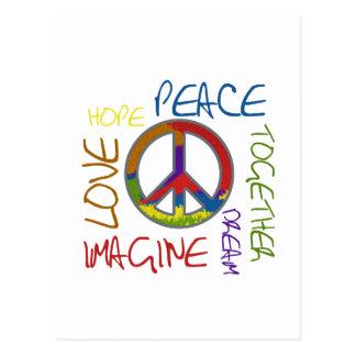 Retro Frieden Postkarte