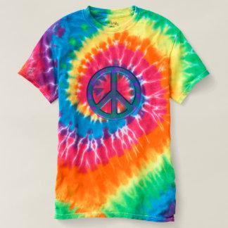 Retro Friedenszeichen-Krawatten-T - Shirt