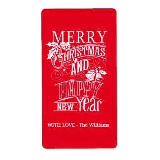 Retro frohe Weihnachten u. guten Rutsch ins Neue
