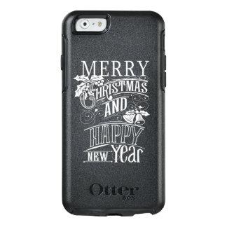 Retro frohe Weihnachten u. guten Rutsch ins Neue OtterBox iPhone 6/6s Hülle
