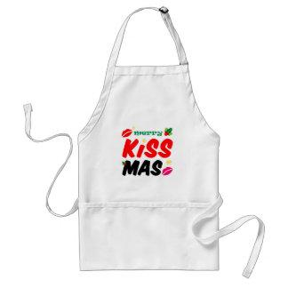 Retro fröhlicher Kissmas Feiertag Schürze
