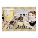 Retro Fünfzigerjahre Cocktail-Party 12,7 X 17,8 Cm Einladungskarte
