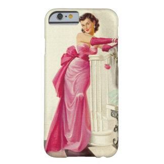 Retro Fünfzigerjahre Frau mit Rosen Barely There iPhone 6 Hülle