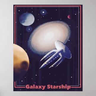"Retro ""Galaxie Starship"" Plakat"
