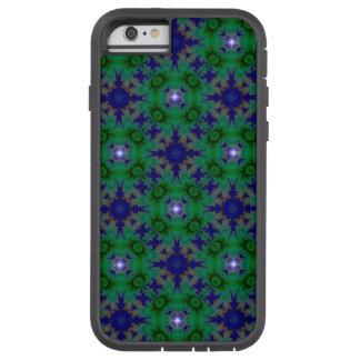 Retro Gänseblümchen in grün-blauem und in den Tough Xtreme iPhone 6 Hülle