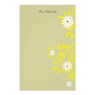 Retro Gänseblümchen und gelbe mit Filigran Briefpapier