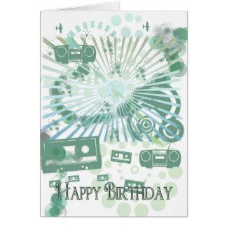 Retro Geburtstags-Karte - modernes Retro - Grußkarte