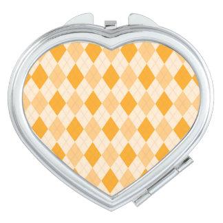 Retro gelbe Raute rockabilly kompakter Spiegel Taschenspiegel