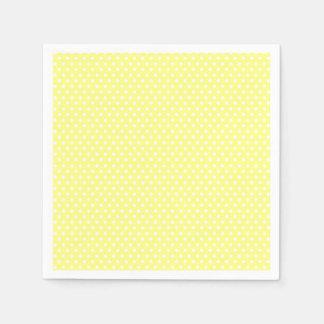 Retro gelber und weißer Tupfen Papierserviette