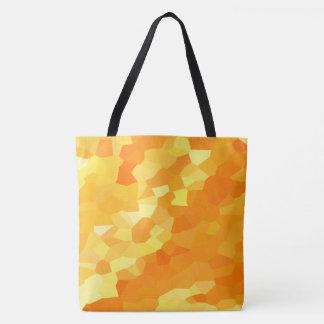 Retro gelbes und orange Buntglas-Fall-Mosaik Tasche