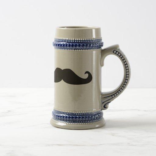 Retro gentelman Schnurrbart-Hipster-Bier Stein Kaffeetassen