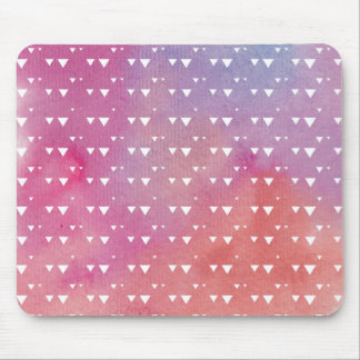 Retro geometrischer Dreieck-Hintergrund. Aquarell Mousepad