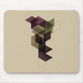 Retro geometrischer Würfel Mousepad