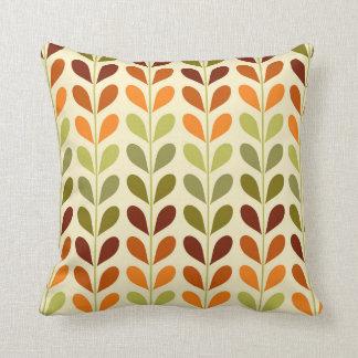 Retro geometrisches Blätterkissen Kissen