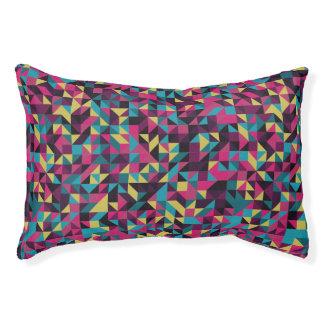 Retro geometrisches Pinwheel-Muster Haustierbett