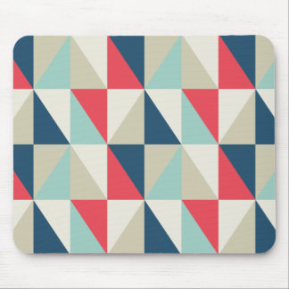 Retro geometrisches rotes und blaues mauspad
