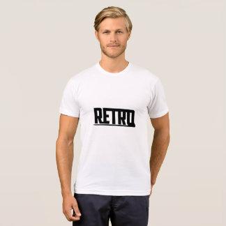 Retro Gesellschafts-Weiß T-Shirt