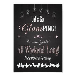 Retro Glamping Bachelorette Flucht-Wochenende Karte