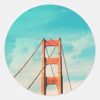 Retro Golden Gate-San Francisco Aufkleber