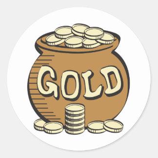 Retro Goldschatz Runder Aufkleber