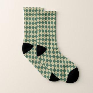 Retro Golf-Grün-Rauten-Socken Socken