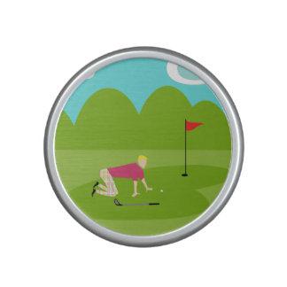 Retro Golfspieler Bumpster Lautsprecher