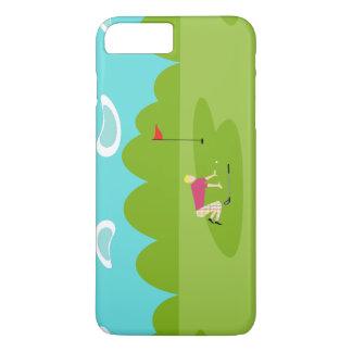 Retro Golfspieler iPhone 7 Plusfall iPhone 8 Plus/7 Plus Hülle