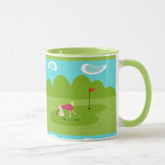 Retro Golfspieler-Tasse Tasse