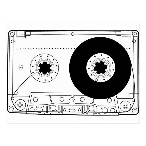retro grafische Vintage T - Shirtkassette der Kass Postkarten