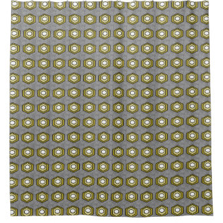 Retro-Grau-Olive-Stilvoll-Mod-Bad-Dekor Duschvorhang