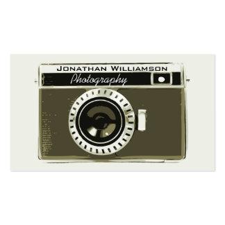 Retro graue Kamera-Fotografie-Visitenkarten Visitenkarten