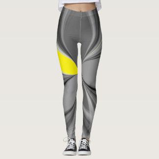 Retro grauer und gelber Joggen-zukünftiger Leggings