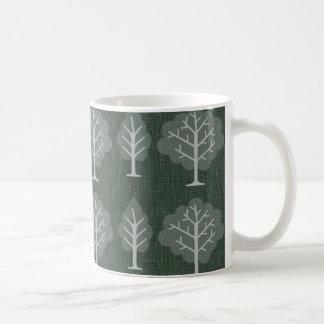 Retro grüne Bäume Tee Haferl