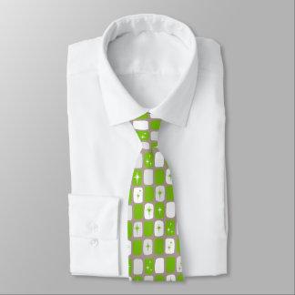 Retro grüne Sternexplosion-Krawatte Krawatte