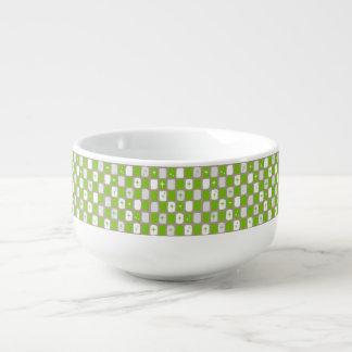 Retro grüne Sternexplosion-Suppen-Tasse Große Suppentasse