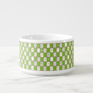 Retro grüne und weiße kleine suppentasse