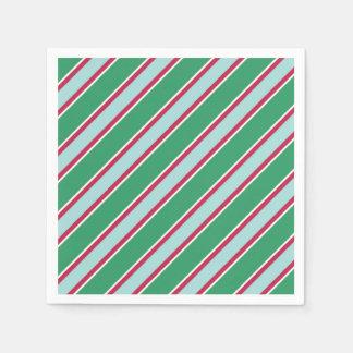 Retro grüne WeihnachtsParty-Tafelservietten Serviette